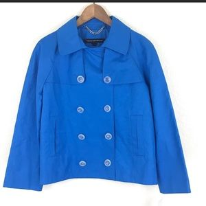 French connection vibrant blue spring jacket